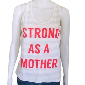 STRONG AS A MOTHER.Club Stripe Tank Top Grey Sz M